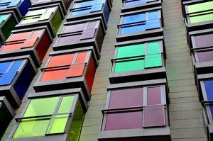 Color square buildings