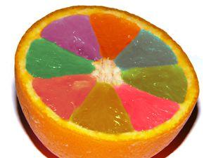 Colored orange