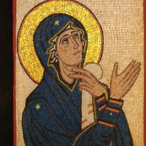 mosaic art VIRGIN PRAYER