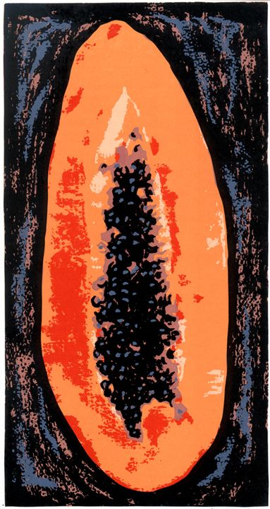 Papaya - Arte Sobre Papel
