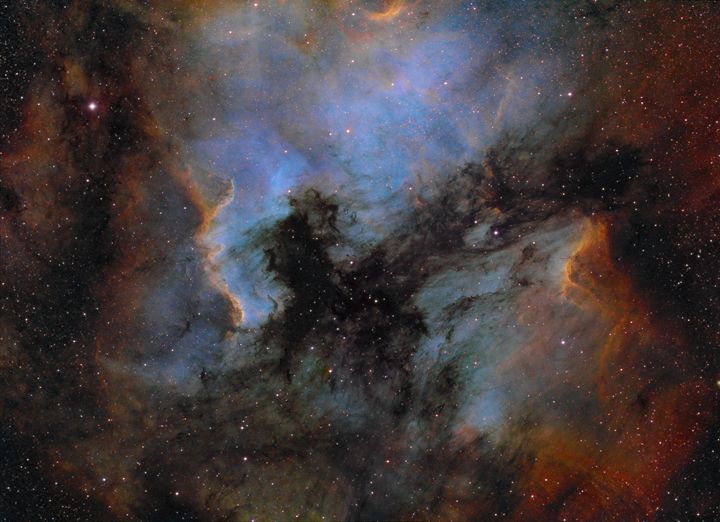 North America and Pelican Nebulae - Astrophotography by Charles Ward