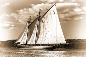 The Bluenose (Sepia)