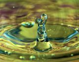 Water drop abstract