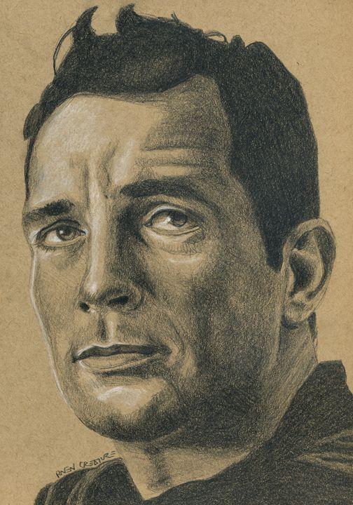 Beat Poet Jack Kerouac Portrait - Raven Creature