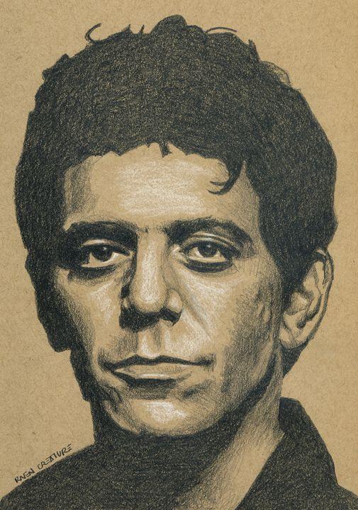 Lou Reed of Velvet Underground Portr - Raven Creature