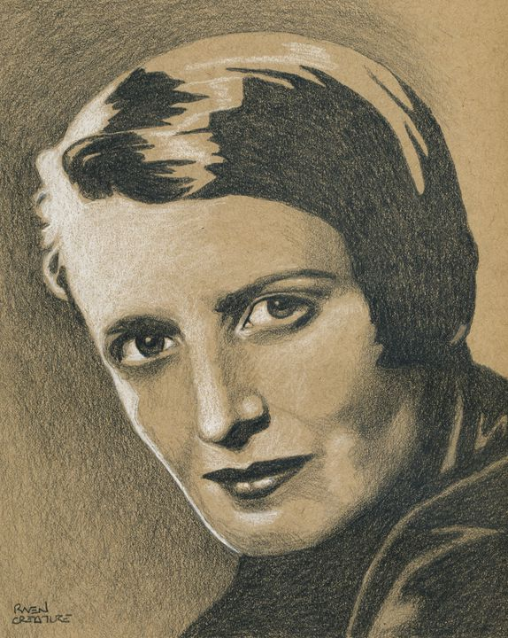Author and Philosopher Ayn Rand - Raven Creature