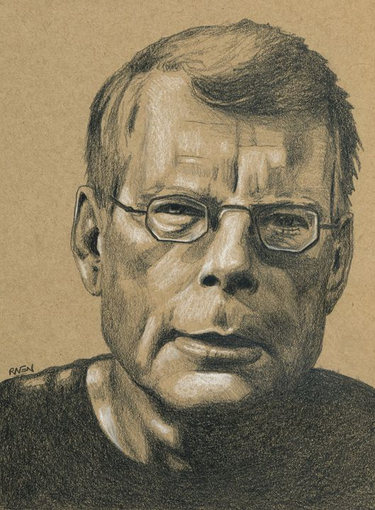 Horror Author Stephen King Drawing - Raven Creature
