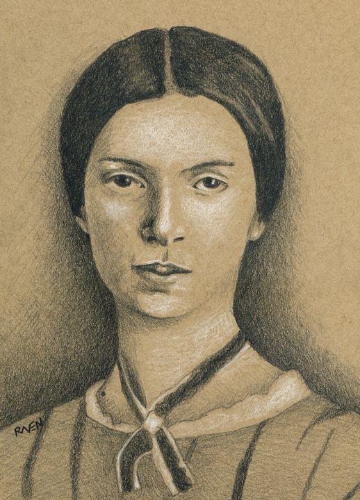 Emily Dickinson Portrait Drawing - Raven Creature