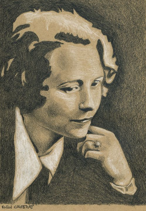 Edna St Vincent Millay Author Portra - Raven Creature