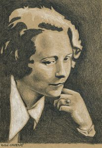 Edna St Vincent Millay Author Portra
