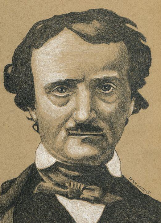 Edgar Allen Poe Portrait - Raven Creature
