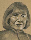 """A signed 9"""" x 12"""" pencil portrait"""