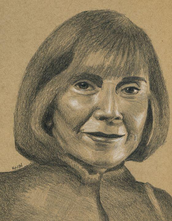 Vampire Author Anne Rice Portrait - Raven Creature