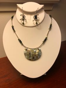 Shell Pendant &Sterling Coils - Paula's Gallery