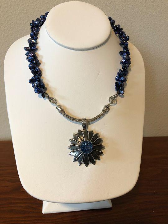 Beautiful Blue Pearl & Pendant - Paula's Gallery