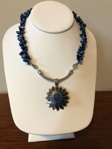 Beautiful Blue Pearl & Pendant - Paula's Gallery