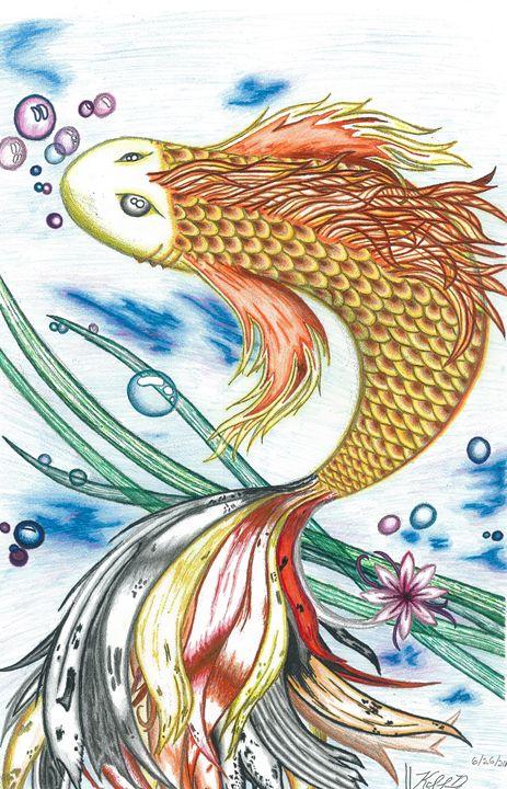 Swirling Golden Koi - Mortifera