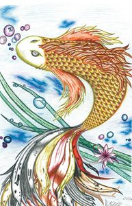 Swirling Golden Koi