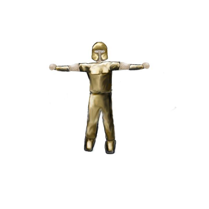 Gold Armored Character - Bens Digital Art