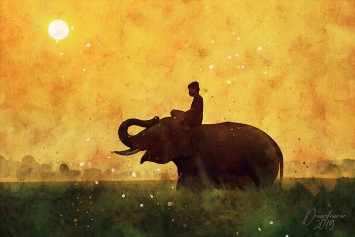 The Boy and the Elephant - Dreamframer Gallery
