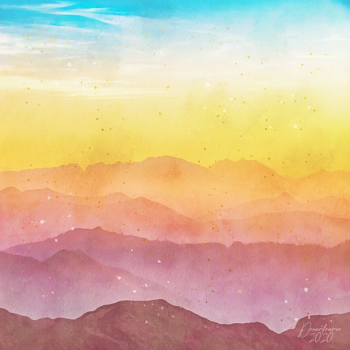Red and Orange Mountains - Dreamframer Gallery