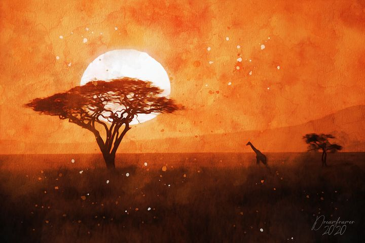 Sunset in Kenya - Dreamframer Gallery