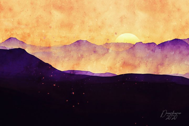 Sunset in the Mountains - Dreamframer Gallery