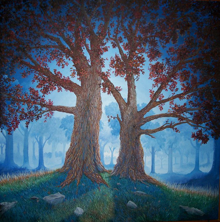 Twin Trees - MC Artwork Images in Oil