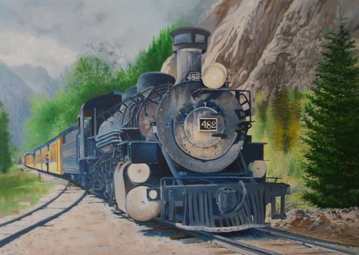 482 to Silverton - MC Artwork Images in Oil