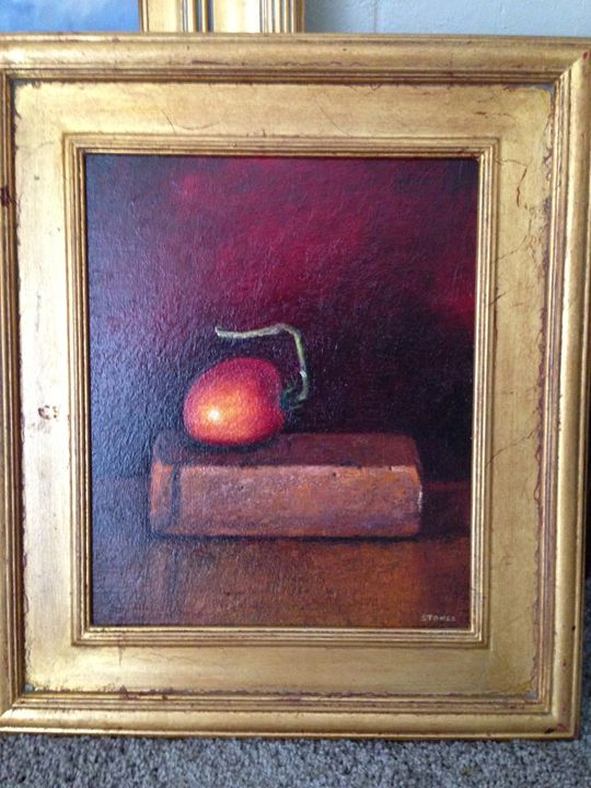 Rick Stoner Still life - gold frame - Rick Stoner and Sarah Peterson - Colorado artists