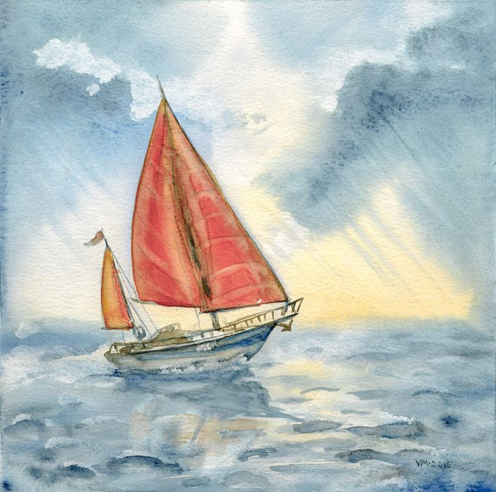 Lonely sail - Veronica_Marits