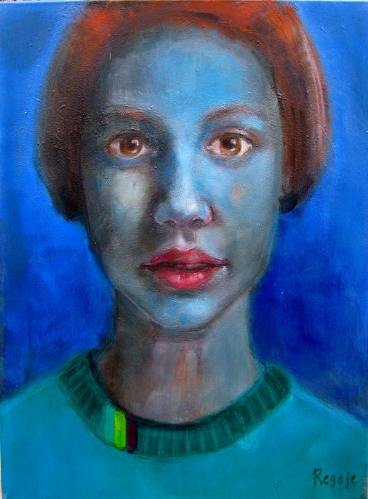 Blue Portrait - Regoje