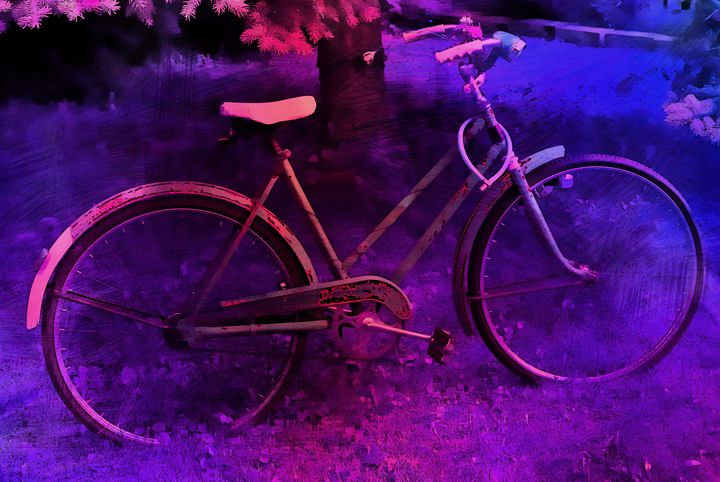 Blue Bike - Corinne's Prints n things