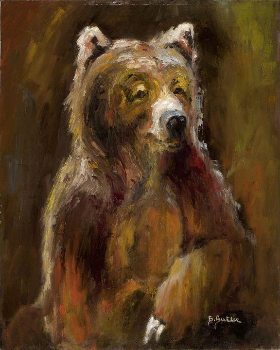 Bear in Repose - Barbara Butler, Artist