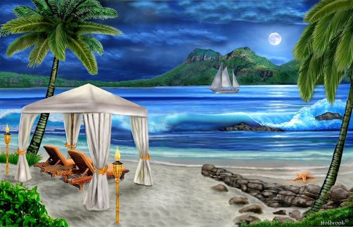 TROPICAL PARADISE - HOLBROOK ART PRODUCTIONS