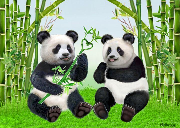 LOVING PANDAS - HOLBROOK ART PRODUCTIONS