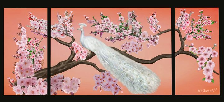 CHERRY BLOSSOM PEACOCK - HOLBROOK ART PRODUCTIONS
