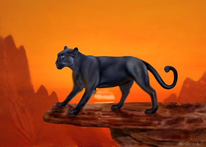 MAJESTIC PANTHER - HOLBROOK ART PRODUCTIONS