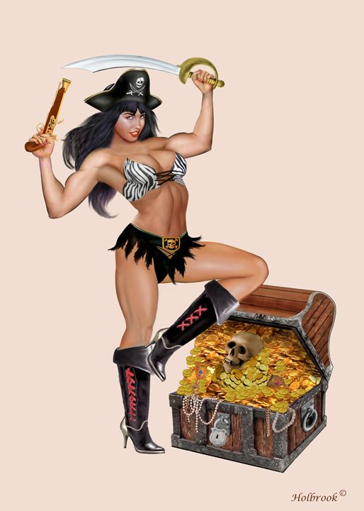 PIRATE GIRL'S TREASURE CHEST - HOLBROOK ART PRODUCTIONS