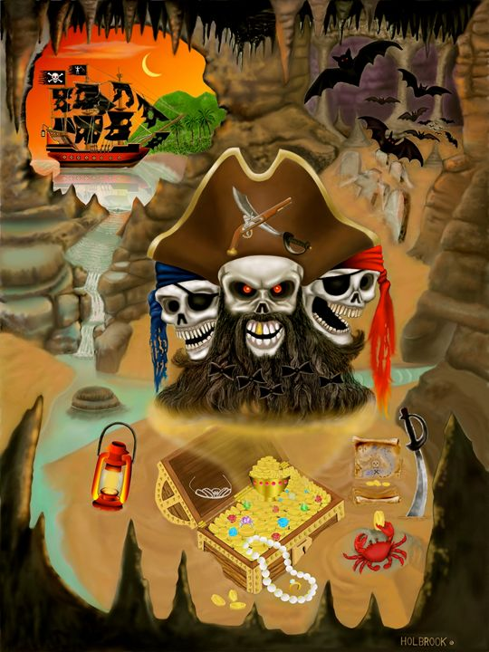 BLACKBEARD'S HAUNTED TREASURE - HOLBROOK ART PRODUCTIONS