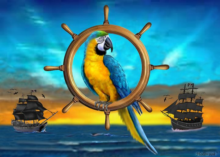 MACAW PIRATE PARROT - HOLBROOK ART PRODUCTIONS
