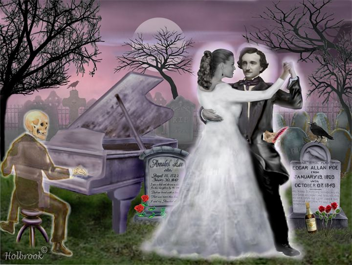 Poe and Annabel Lee Eternally - HOLBROOK ART PRODUCTIONS