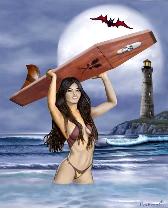Vampire Surfer Girl - HOLBROOK ART PRODUCTIONS