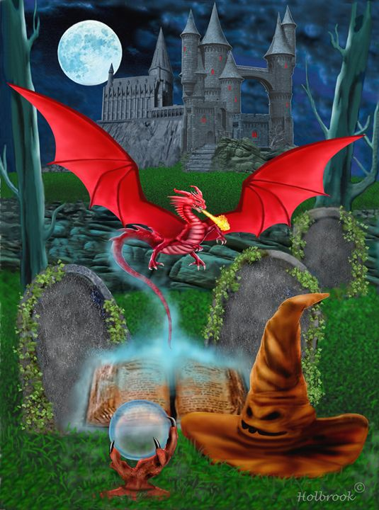 Conjuring the Red Dragon - HOLBROOK ART PRODUCTIONS