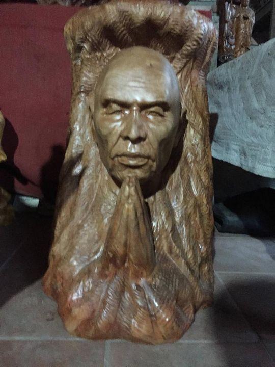 Zen Master Thich Nhat Hanh Portrait - WoodenBuddhas.com