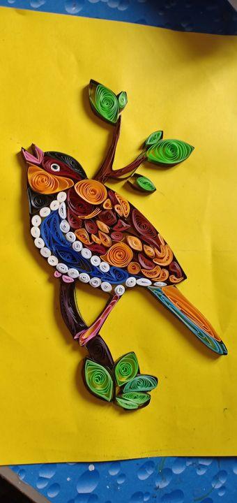 Quilting of bird - Creativity in Action