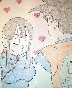 Goku and Chi-Chi 💞
