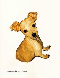 Puppy Watercolor painting