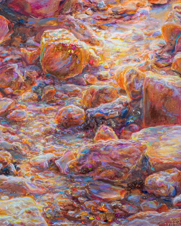 Rainbow Rocks - Meira Batya Art