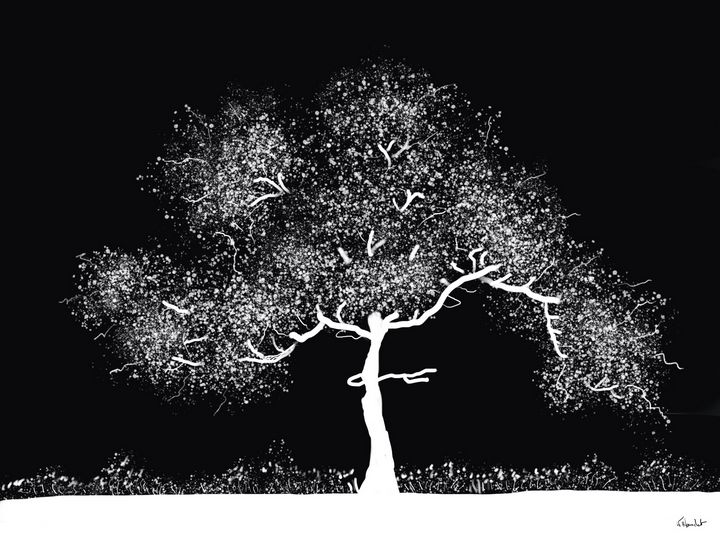 Arbre blanc,   White tree - Karleane